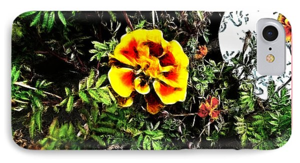 IPhone Case featuring the photograph Orange And Yellow Flower by Joan  Minchak