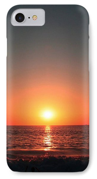 IPhone Case featuring the photograph Orange Arched Sunset On Waves by Ellen Barron O'Reilly