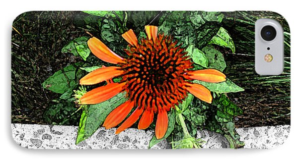 IPhone Case featuring the photograph Orange At Highline Nyc by Joan  Minchak