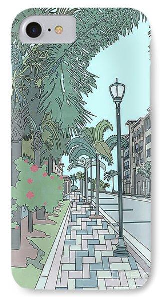 IPhone Case featuring the digital art Orange Avenue by Megan Dirsa-DuBois