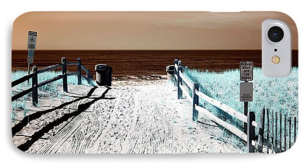 Orange Beach Entry IPhone Case by John Rizzuto