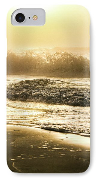 IPhone Case featuring the photograph Orange Beach Sunrise With Wave by John McGraw