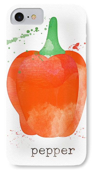 Orange Bell Pepper  IPhone Case by Linda Woods