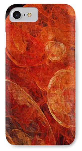 IPhone Case featuring the digital art Orange Blossom Abstract by Andee Design