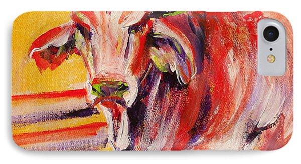 Orange Brahma Bull IPhone Case by Summer Celeste