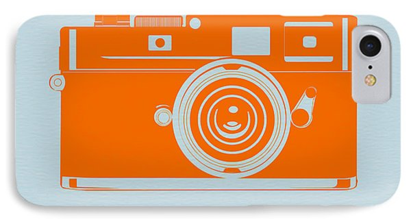 Orange Camera IPhone Case by Naxart Studio