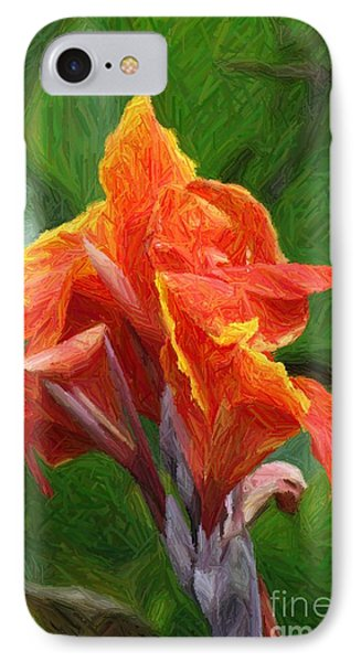 Orange Canna Art Phone Case by John W Smith III