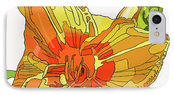 Orange Canna Lily IPhone Case by Jamie Downs