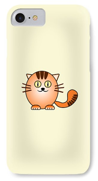 Orange Cat - Animals - Art For Kids IPhone Case