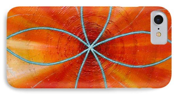 Orange Chakra Phone Case by Anne Cameron Cutri