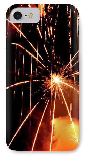 IPhone Case featuring the photograph Orange Chetola Fireworks by Meta Gatschenberger
