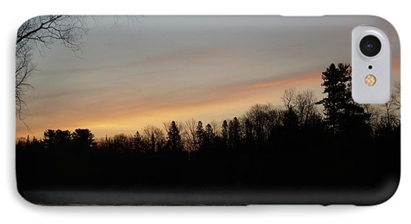 IPhone Case featuring the photograph Orange Clouds Mississippi River Dawn by Kent Lorentzen