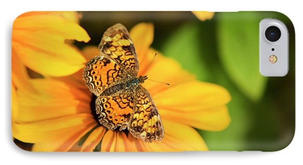 Orange Crescent Butterfly Phone Case by Christina Rollo