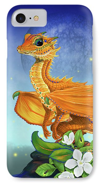 IPhone Case featuring the digital art Orange Dragon by Stanley Morrison