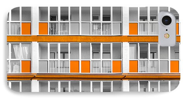 Orange Exterior Decoration Details Of Modern Flats IPhone Case by John Williams