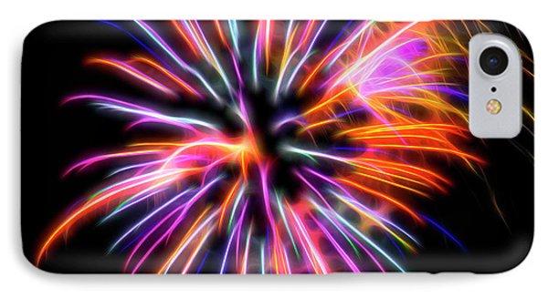 IPhone Case featuring the photograph Orange Fireworks by Yulia Kazansky