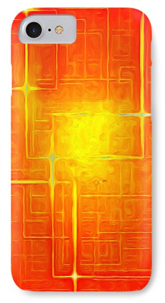 Orange Geometry - Da IPhone Case by Leonardo Digenio