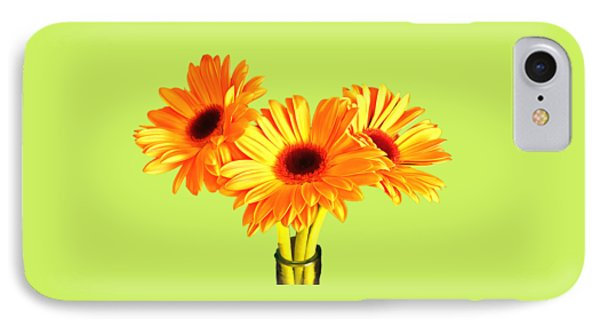 Orange Gerbera's IPhone Case by Scott Carruthers