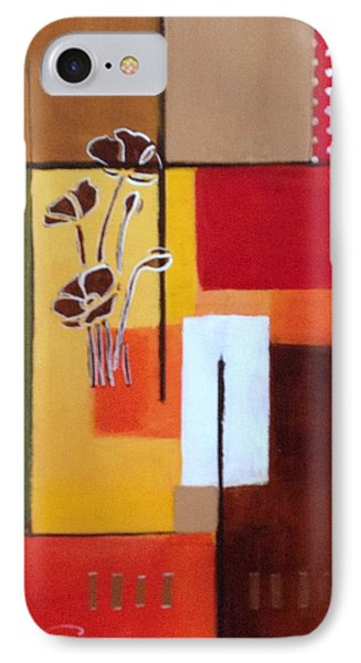Orange Green, Abstract  IPhone Case by Patricia Cleasby