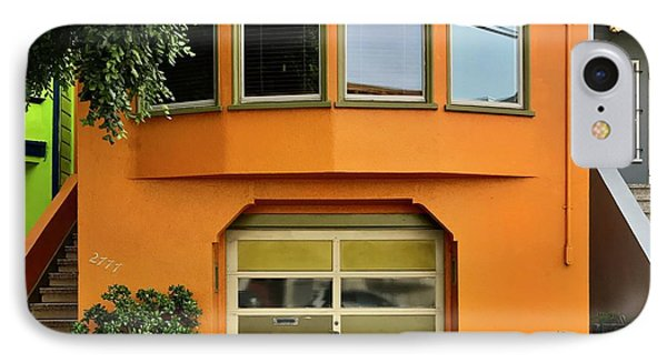 Orange House IPhone Case by Julie Gebhardt