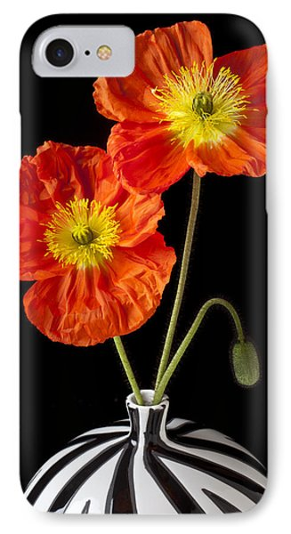 Orange Iceland Poppies IPhone Case by Garry Gay