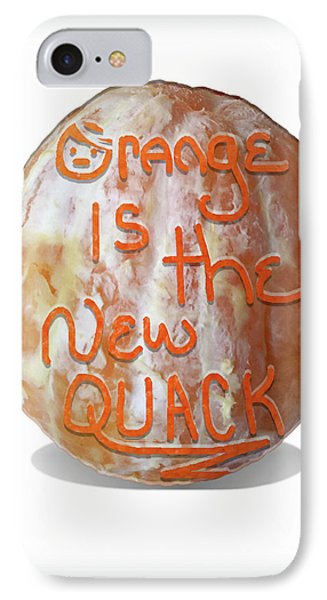 Orange Is The New Quack IPhone Case by Susan Maxwell Schmidt