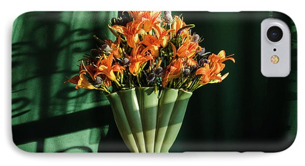 Orange Lilies In June Phone Case by Wendy Blomseth
