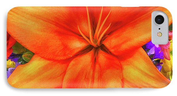 IPhone Case featuring the painting Orange Lilly Art by Deborah Benoit