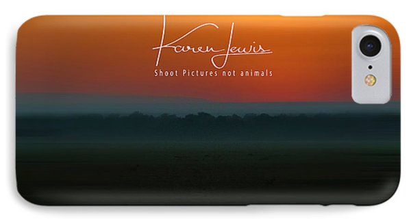 IPhone Case featuring the photograph Orange Mara Dawn by Karen Lewis