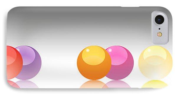 Orange Marbles IPhone Case