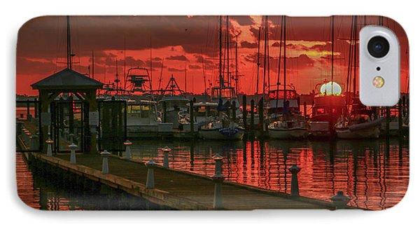 Orange Marina Sunrise IPhone Case