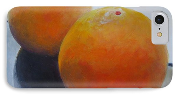 Orange Noir Et Blanc Phone Case by Muriel Dolemieux