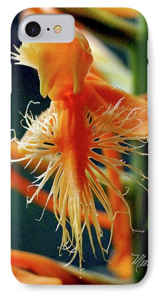 IPhone Case featuring the photograph Fringed Orange Orchid by Meta Gatschenberger