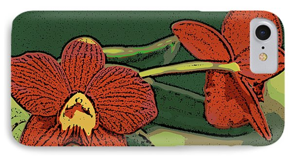 Orange Orchids IPhone Case by Ann Tracy