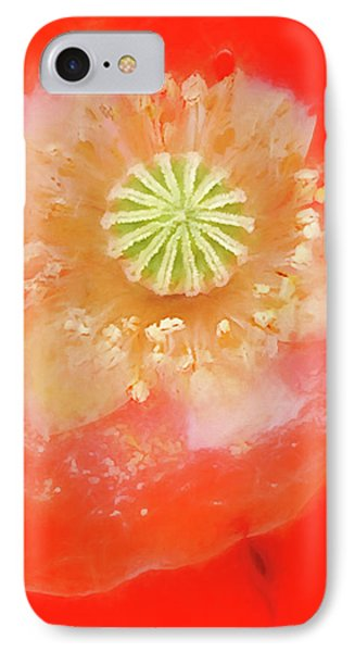 IPhone Case featuring the photograph Orange Oriental Poppy Painterly by Carol Leigh