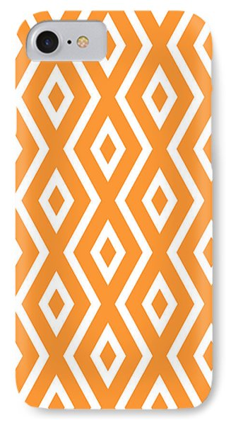 Repeat iPhone 7 Case - Orange Pattern by Christina Rollo