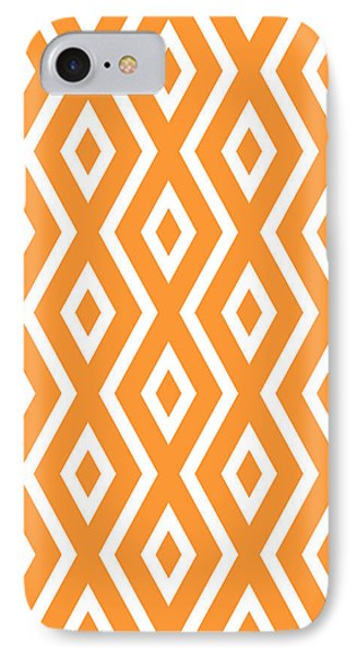 Orange Pattern IPhone Case by Christina Rollo