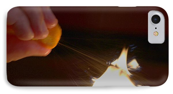 IPhone Case featuring the photograph Orange Peel Flame Thrower. by John King