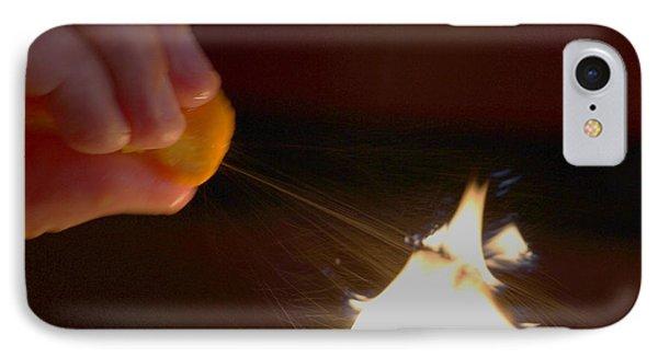 Orange Peel Flame Thrower. IPhone Case by John King