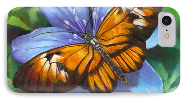 Orange Piano Key Butterfly IPhone Case