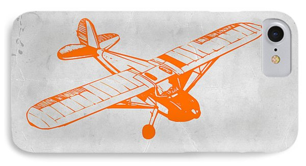 Helicopter iPhone 7 Case - Orange Plane 2 by Naxart Studio