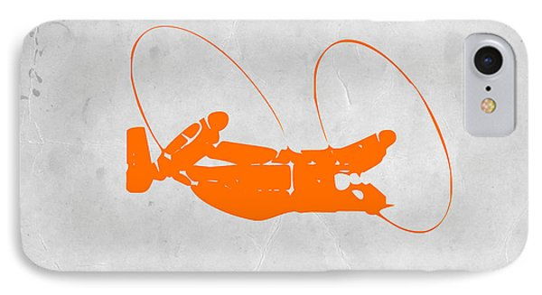 Helicopter iPhone 7 Case - Orange Plane by Naxart Studio