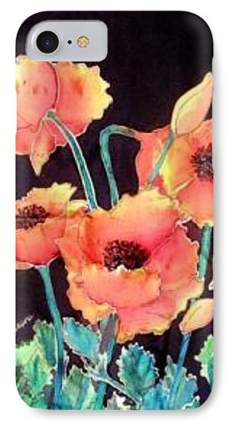 Orange Poppies Phone Case by Francine Dufour Jones