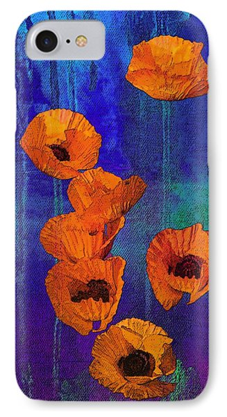 Orange Poppies IPhone Case by I'ina Van Lawick
