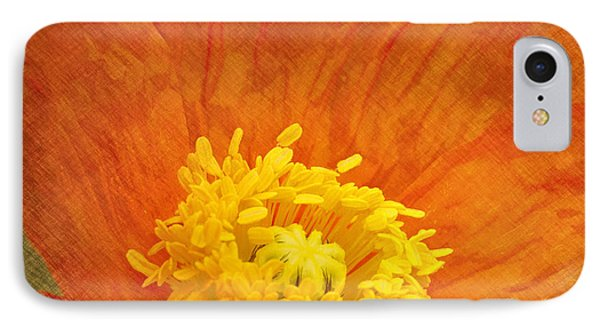 Orange Poppy IPhone Case by Carrie Cranwill