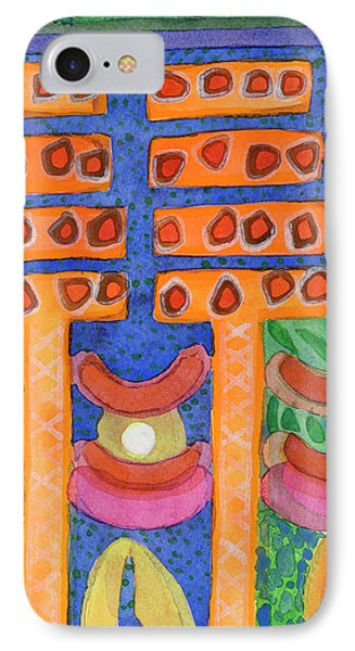 Orange Posts In Mysterious Night Light  IPhone Case by Heidi Capitaine
