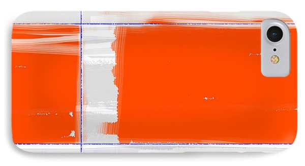 Orange Rectangle IPhone Case by Naxart Studio