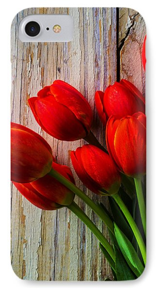Orange Red Tulips IPhone Case by Garry Gay