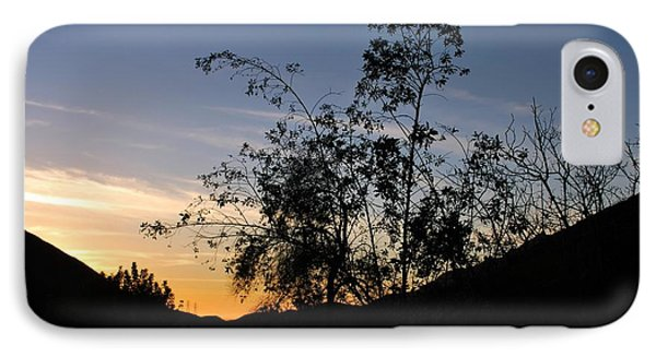 IPhone Case featuring the photograph Orange Sky Nature Silhouette by Matt Harang