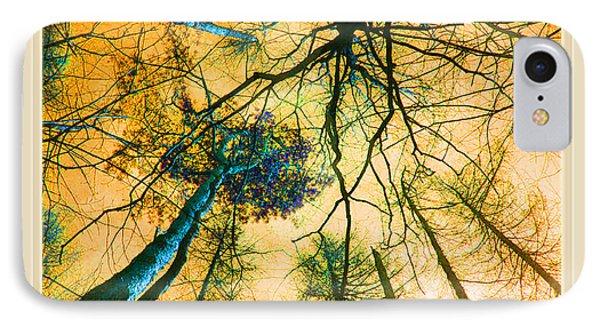Orange Sky Tree Tops IPhone Case by Felipe Adan Lerma